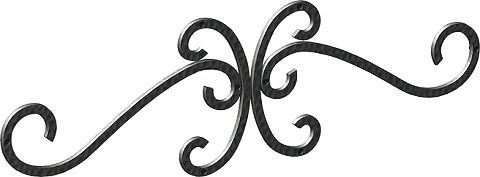 壁飾りワイド型妻飾り 41型 シンボル アイアン風壁飾り