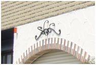 妻飾り 壁飾り立体ワイド型妻飾り・壁飾り 18型 シンボル アイアン風壁飾り アルミ鋳物 エクステリア 外壁工事