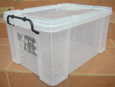 収納ボックス 収納ケース プラスチック製 タグボックス05 透明(クリア)収納箱 DIY、アウトドア用品などの整理に 重ね置き可能