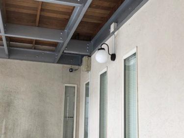 玄関照明ポーチ灯を設置し不安から大満足へ♪シンプル・アンティークに