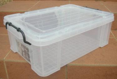 収納ボックス 収納ケース プラスチック製 タグボックス04 透明(クリア)収納箱 DIY、アウトドア用品などの整理に 重ね置き可能