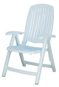ガーデンチェア 折りたたみ椅子Nardiサリナチェア クッション付き リクライニングチェアー ベランダ椅子 ガーデンファニチャー 完成品