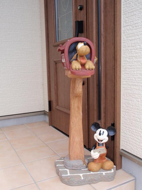 ポスト 郵便受け スタンドタイプ 郵便ポスト デザインポスト ディズニーポスト ミッキーマウスとプルート
