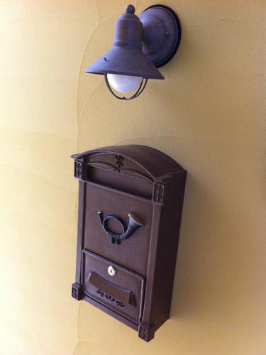 ポスト 郵便受け 郵便ポスト スチール ロートアイアン ドイツ・ハイビ社製 HEIBI POST クラシカル ポスト 鍵付き ブラウン グリーン 茶 緑 壁掛け おしゃれ 高級