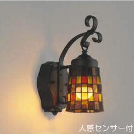 玄関 照明 ポーチ灯 ポーチライト LED付 人感センサー付 タイマー付 ON-OFFタイプ 白熱球40W相当 防雨型 高さ321×幅128 暖色 照明器具